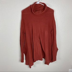 Free People Burnt Orange cowl neck long sleeve